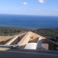 Projet charpente en bois avec Corse Solutions Bois