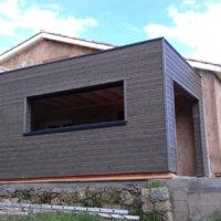 extension en bois sur maison existante en corse