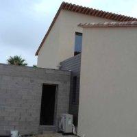 construction maison plus façade en bois projet Corse Solutions Bois