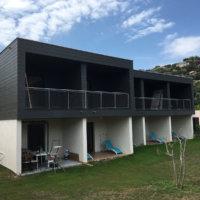 projet immobilier bardage extension et surélévation en bois par Corse Solutions Bois