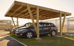 pergola abris de voitures en bois projet de Corse Solutions Bois